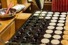 Muffins preparing stock image