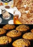 muffins przygotowanie Obrazy Stock