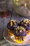 Muffins with pumpkin Stock Photo