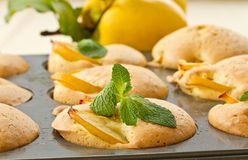 Muffins with quince Stock Photo