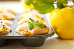 Muffins with quince Royalty Free Stock Image