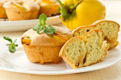 Muffins with quince Stock Image