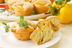 Muffins with quince Stock Images