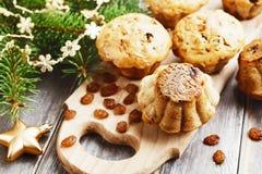 Muffins with raisins Stock Photos