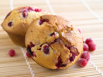 Muffins with redcurrant Royalty Free Stock Photography