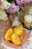 Muffins with a rhubarb Stock Images