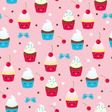 Muffins seamless pattern Stock Images