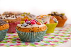 Muffins on serving Royalty Free Stock Photos