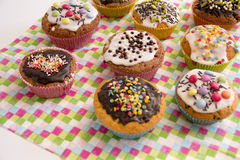 Muffins on serving Royalty Free Stock Photography