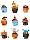 Muffins set Royalty Free Stock Image