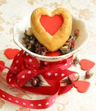 Muffins in the shape of a heart - sweet gift Stock Images