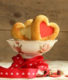 Muffins in the shape of a heart - sweet gift Stock Photography