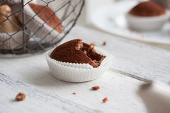 Muffins with spelt flour and cocoa Royalty Free Stock Image