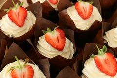 Muffins Starwberry Στοκ εικόνες με δικαίωμα ελεύθερης χρήσης