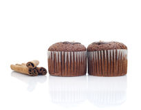 Muffins and sticks cinnamon Royalty Free Stock Photography