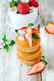 Muffins with strawberries Royalty Free Stock Photos