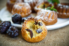 Muffins Stuffed With Dried Plums Royalty Free Stock Images