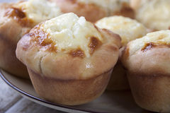Muffins with stuffing  cheese Stock Photography