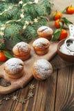 Muffins with sugar powder Stock Photos