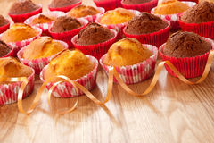 Muffins on a table Stock Images