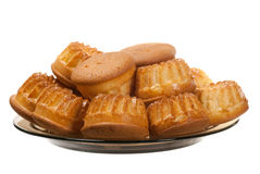 muffins talerz fotografia stock