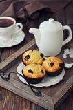 Muffins and tea Royalty Free Stock Photography