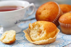 Muffins and tea Stock Photo