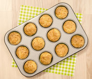 Muffins in a tray. Royalty Free Stock Image