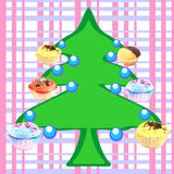 Muffins tree Stock Photo