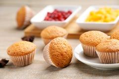 Muffins und Stau Stockbilder
