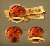 Muffins, vector icons Royalty Free Stock Photography