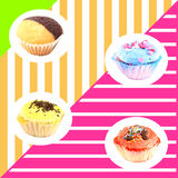 Muffins wallpaper Stock Photos