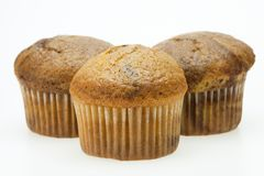 Muffins on white Royalty Free Stock Image