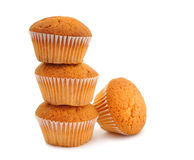 Muffins on a white background Royalty Free Stock Images