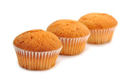 Muffins on a white background Royalty Free Stock Image