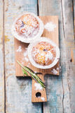 Muffins in white flour Royalty Free Stock Photo