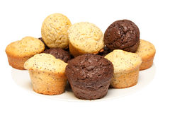 Muffins on white plate Stock Image