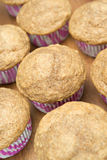 Muffins of whole-grain flour, selective focus Stock Images
