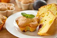Muffins With Fruit Royalty Free Stock Photos