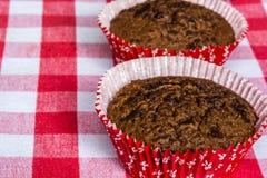 Muffins z czekoladą i pomarańcze Zdjęcia Royalty Free