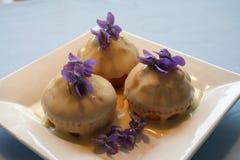 Muffins z ganache Fotografia Royalty Free