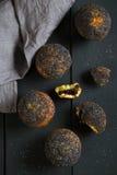 Muffins z makowymi ziarnami Fotografia Royalty Free