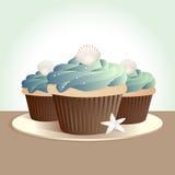 muffinskal royaltyfri illustrationer