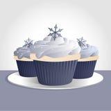 muffinsnowflake royaltyfri illustrationer