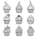 Muffinsymboler Arkivbild