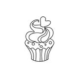 Muffinsymbolstecken 03 stock illustrationer