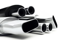 Muffler isolated Royalty Free Stock Photography