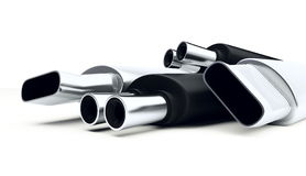 Muffler isolated Stock Photography
