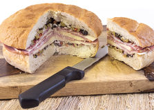 Muffuletta with Individual Serving Royalty Free Stock Photos
