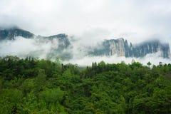 Mufu大峡谷在恩施湖北中国 免版税库存照片